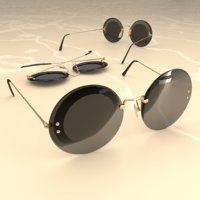 Round Sunglasses Double ring