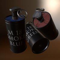 grenade m18 smoke 3D model