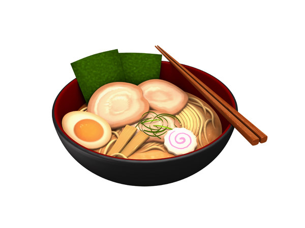 ramen cartoon model