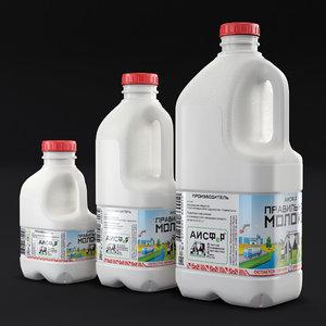 bottles milk 3D model