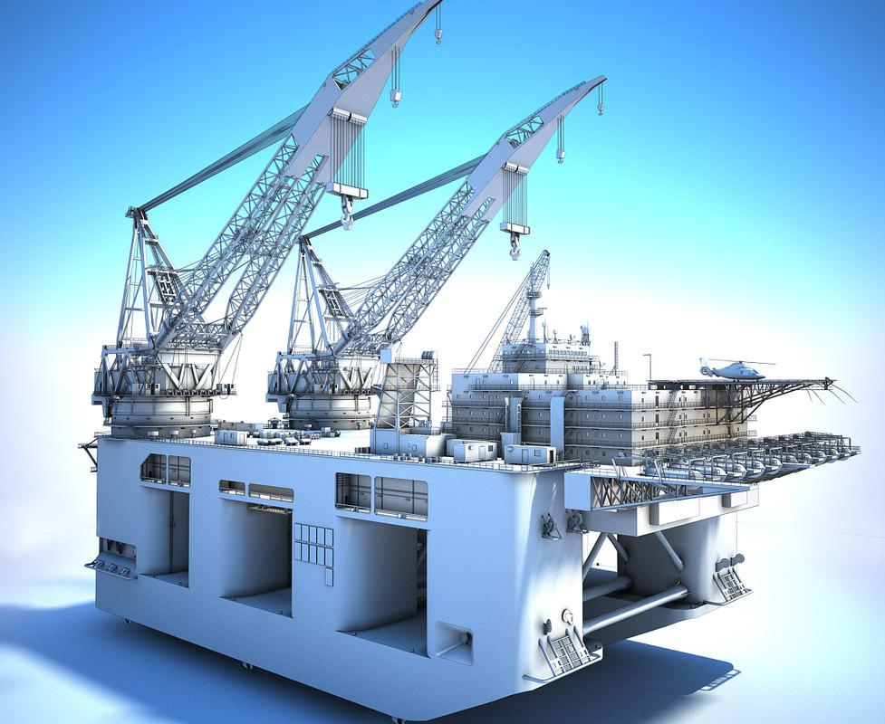 3D Dual Crane Vessel