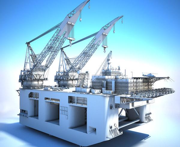 3D dual crane vessel - model
