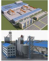 3D factory buildings