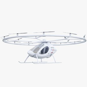 3D dubai flying drone taxi