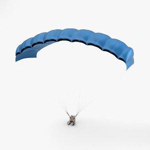 parachute sport skydive 3D model