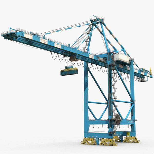 3D model harbor crane