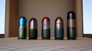 3D model 40mm grenades packed