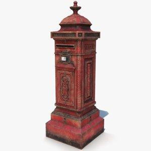 post box 3D model