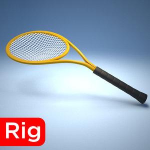 racket tennis sport 3D