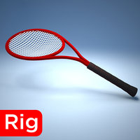 3D racket red