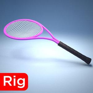 racket tennis sport 3D model