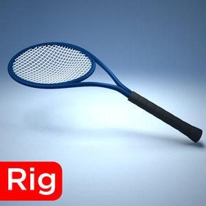 3D racket tennis sport