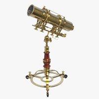 3D brass kaleidoscope model