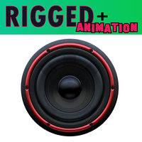 loudspeaker red black 3D model