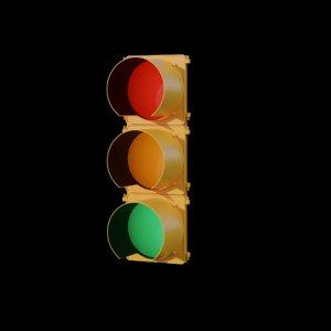 3D model traffic light