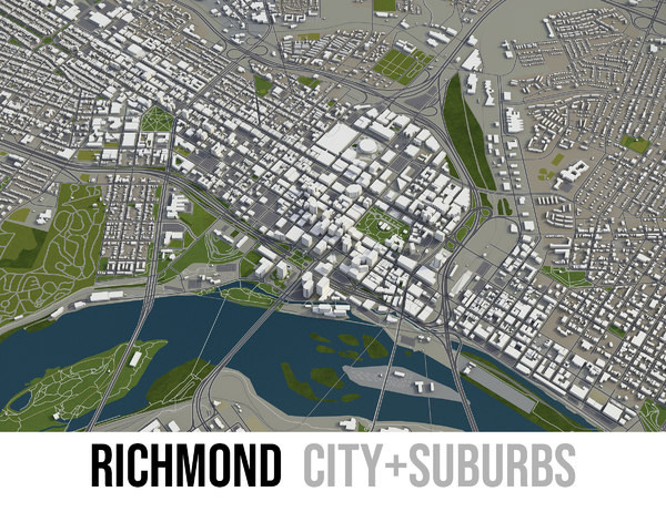 city richmond surrounding area 3D model