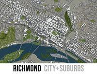 city richmond surrounding area 3D model