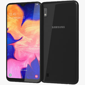 realistic samsung galaxy a10 3D model