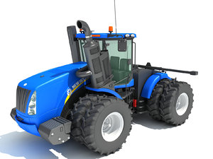 3D model new holland agricultural tractor