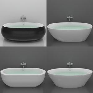 3D set bath bowls belbango model