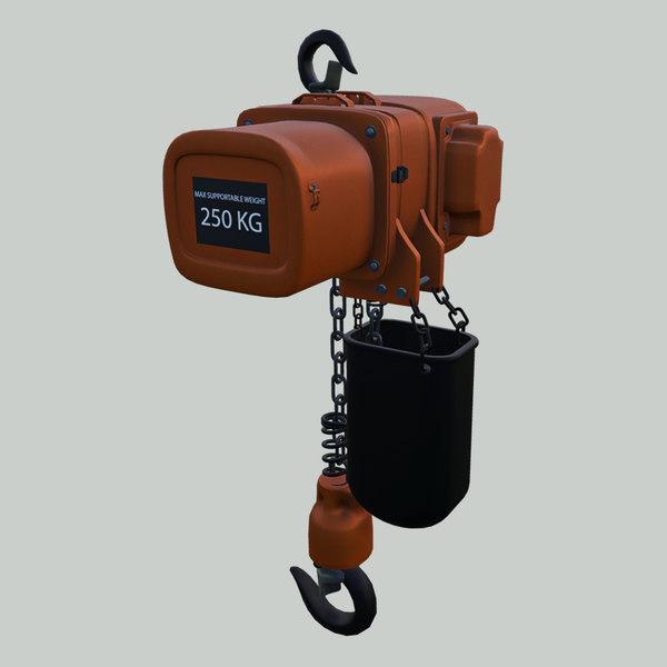 3D crane hoist