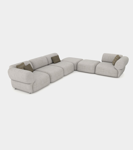 3D cozy sofa shapes modeled