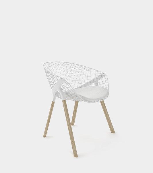 interior design dining chair 3D model