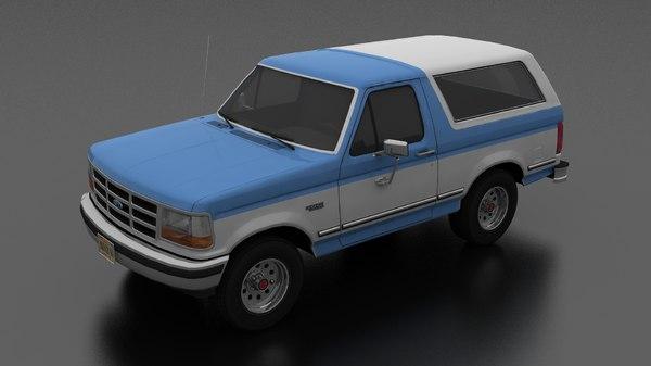 3D bronco 1992 model