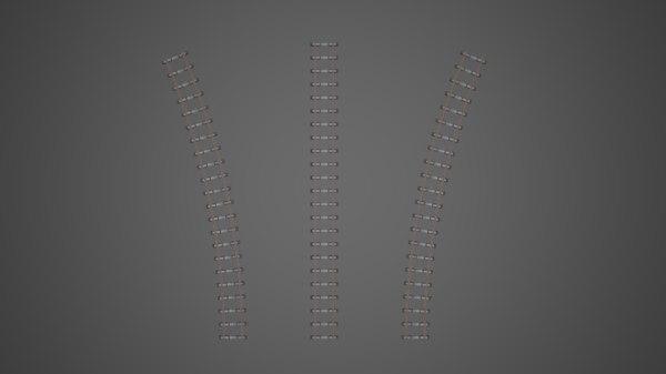 train tracks 3D model