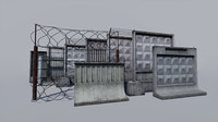 Modular concrete and metallic fences pack