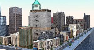 3D coastal city a2