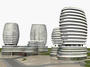 commercial complex 3D