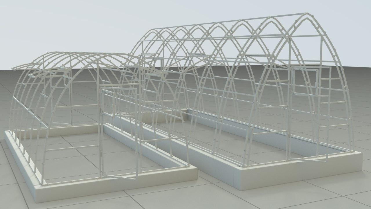 greenhouse houdini 3D
