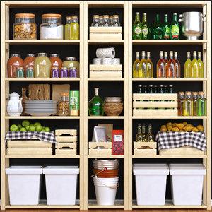 3D kitchen shelf model