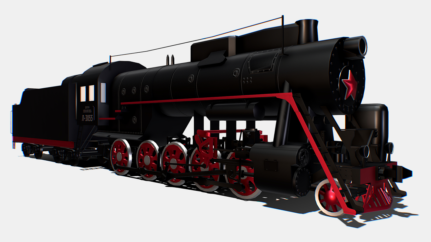 3D freight steam locomotive l-3055