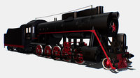 Animated Freight Steam Locomotive L-3055