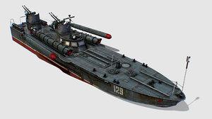 ussr torpedo boat project 3D model