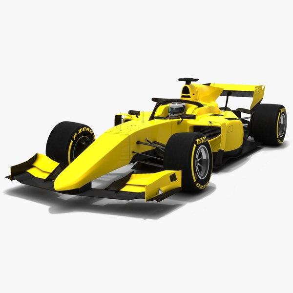 formula 2 dallara f2 3D model