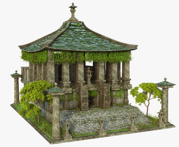temple ruins 3D model