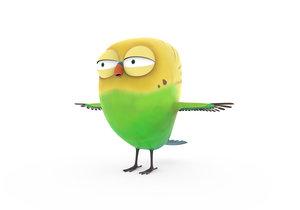 3D model cute bird