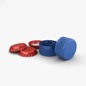 3D cap bottle model