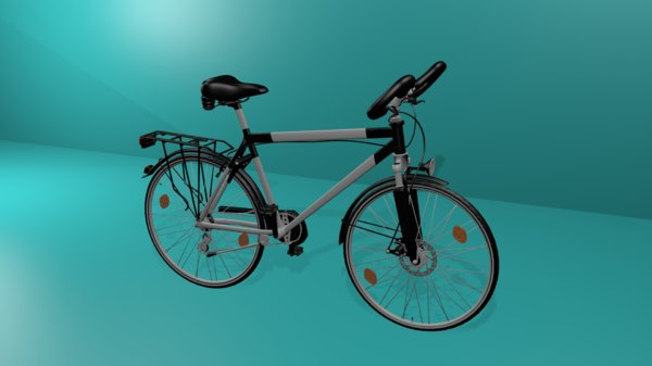 touring bicycle cycle 3D model