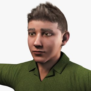 realistic boy real 3D model