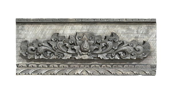 balinese wall barelief decorative 3D model