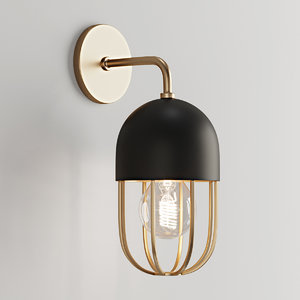 capsule sconce cage 3D model