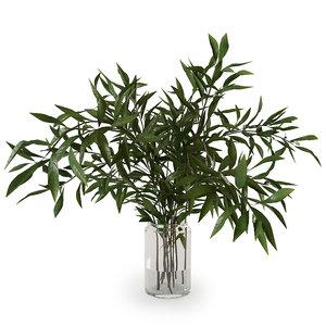 3D model branches vase
