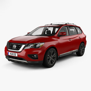 3D nissan pathfinder 2017 model