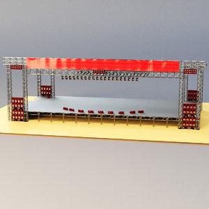 3D light scene model