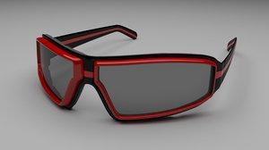 3D model sunglasses glasses fashion