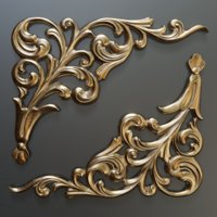 3D decor molding onlay